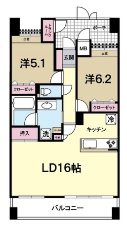 Dグラフォート水戸駅南 間取り